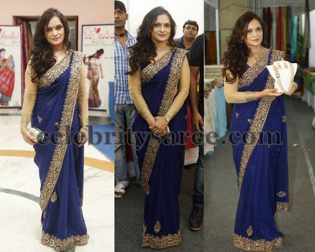 Bina Mehta Blue Designer Saree