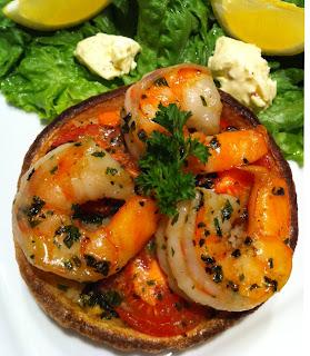 shrimp & rice tostadas
