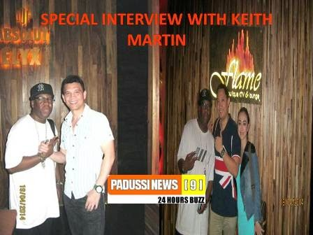 UPCOMING, SPECIAL INTERVIEW WITH KEITH MARTIN