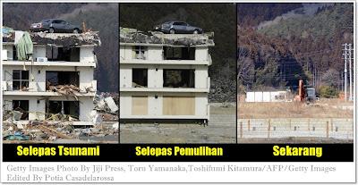 Ulang Tahun TSUNAMI Jepun, GAMBAR Sebelum dan Selepas