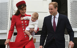 William, Kate and George leave New Zealand
