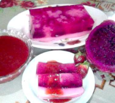 resep dan cara membuat puding buah naga