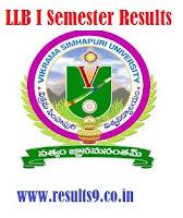 VSU LLB I Semester 2013 Results