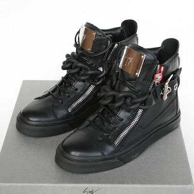 giuseppe zanotti design chain sneakers