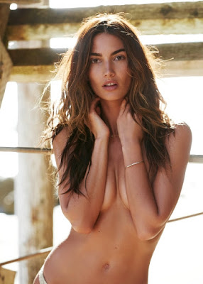 Lily Aldridge Maxim magazine topless photo shoot by Gilles Bensimon