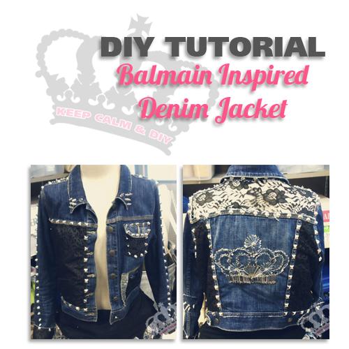 Keep Calm & Do It Yourself: DIY Balmain Denim Jacket ...