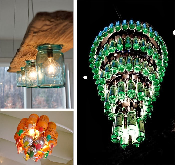 25 l mparas hechas con botellas de vidrio ideas eco - Lamparas hechas con botellas ...