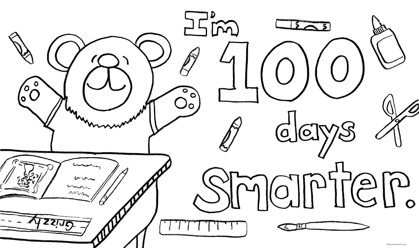 100 Day Coloring Page Day Of School Coloring Pages