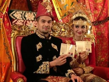Foto pernikahan Shireen Sungkar Teuku Wisnu