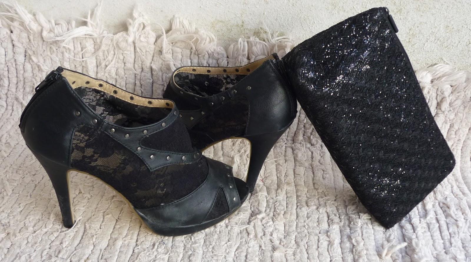 zapatos encaje negros