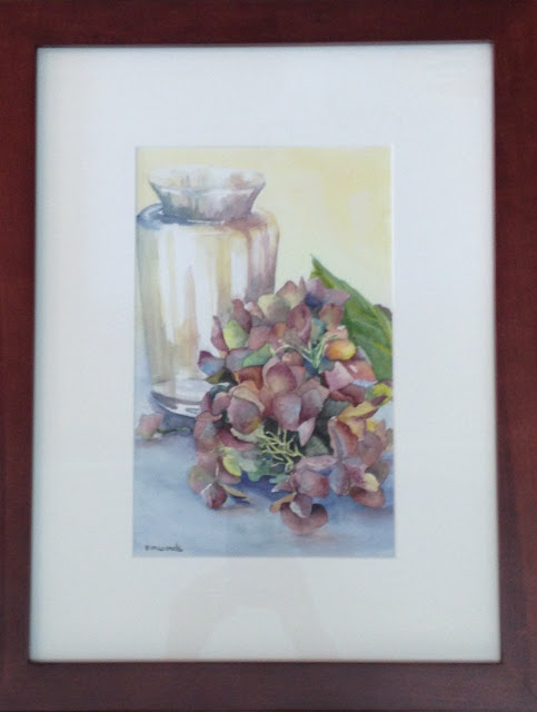 Hydrangea, painting, watercolour, Elaine Woods, Canadian Artist, Art Emporium