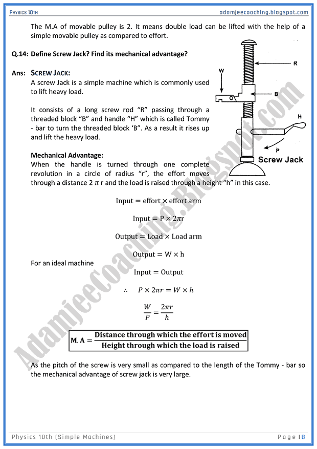 simple machine questions