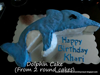 Something Edible And The Great Tutorial On How To Make A Dolphin Cake He Included Pdf That You Can Print Cut Out Then Put Together Like Puzzle