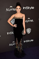 Vanessa Hudgens sexy at the InStyle And Warner Bros. 2016 Golden Globe Awards After Party red carpet dress photo