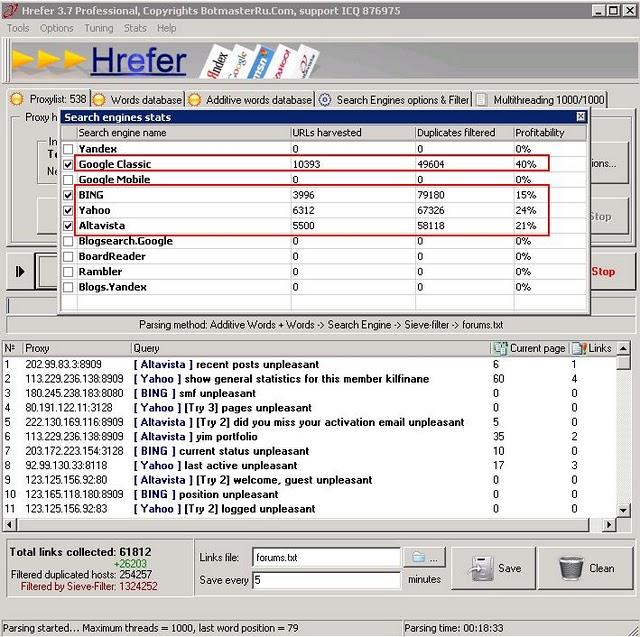 Botmaster Ru: описание парсера поисковых систем Hrefer