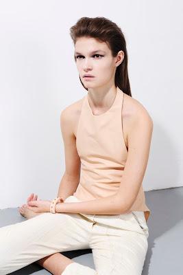 Shirt, white and light pink