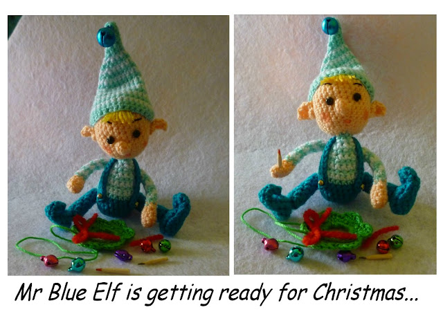 Crochet Christmas elf bur pattern gift cute amigurumi