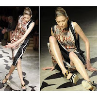 Falling Model: Prada