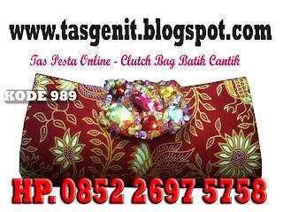 JUAL TAS PESTA, dompet batik cantik, tas pesta batik, clutch bag batik