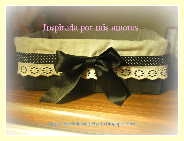 Inspirada por mis amores caja reciclada canasta con papel - Todo tipo de manualidades para hacer ...