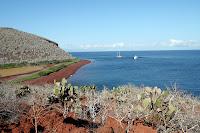 Layers of Color and Red Sand Beach on Rabida Island, Galapagos
