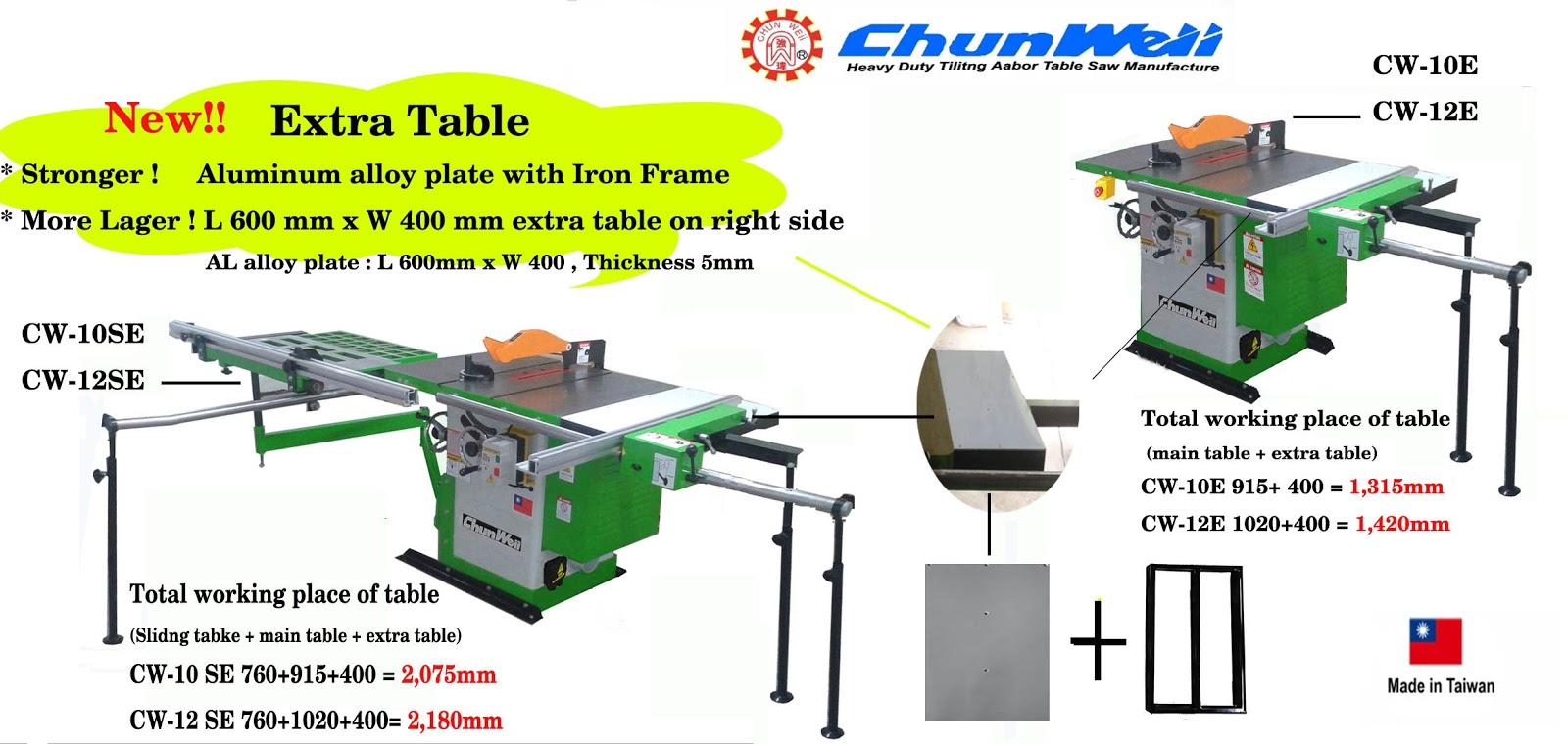 tilting arbor table saw