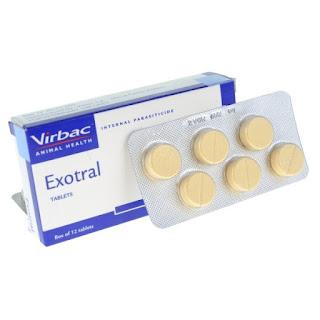 Exotral, một loại thuốc sổ giun cho chó.