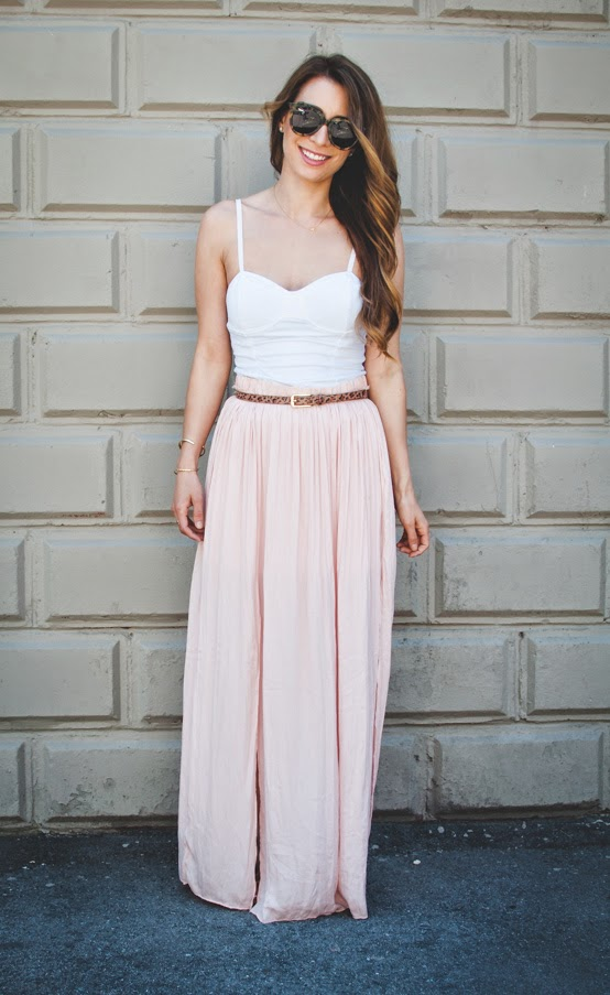 OOTD - Blush Maxi Skirt for Summer | La Petite Noob | A Toronto ...