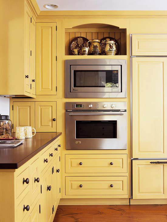 Modern furniture traditional kitchen design ideas 2011 What color cabinets go with yellow walls