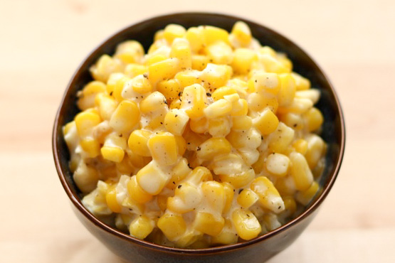 Slow Cooker Creamed Corn - 5 Favorite Thanksgiving Side Dish recipes by Barefeet In The Kitchen