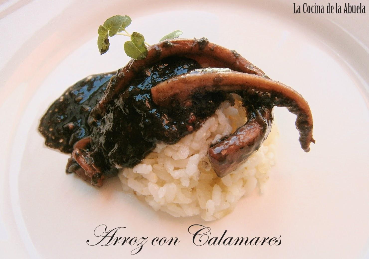 Arroz con Calamares (Arroz Negro)