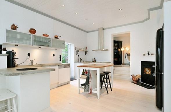 Decora y disena 5 cocinas con chimeneas for Cocinas con chimenea
