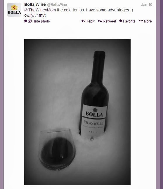 Twitter conversation Bolla Wine and The Winey Mom, Creso wine