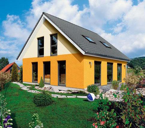 Casa in legno prefabbricata su terreno agricolo