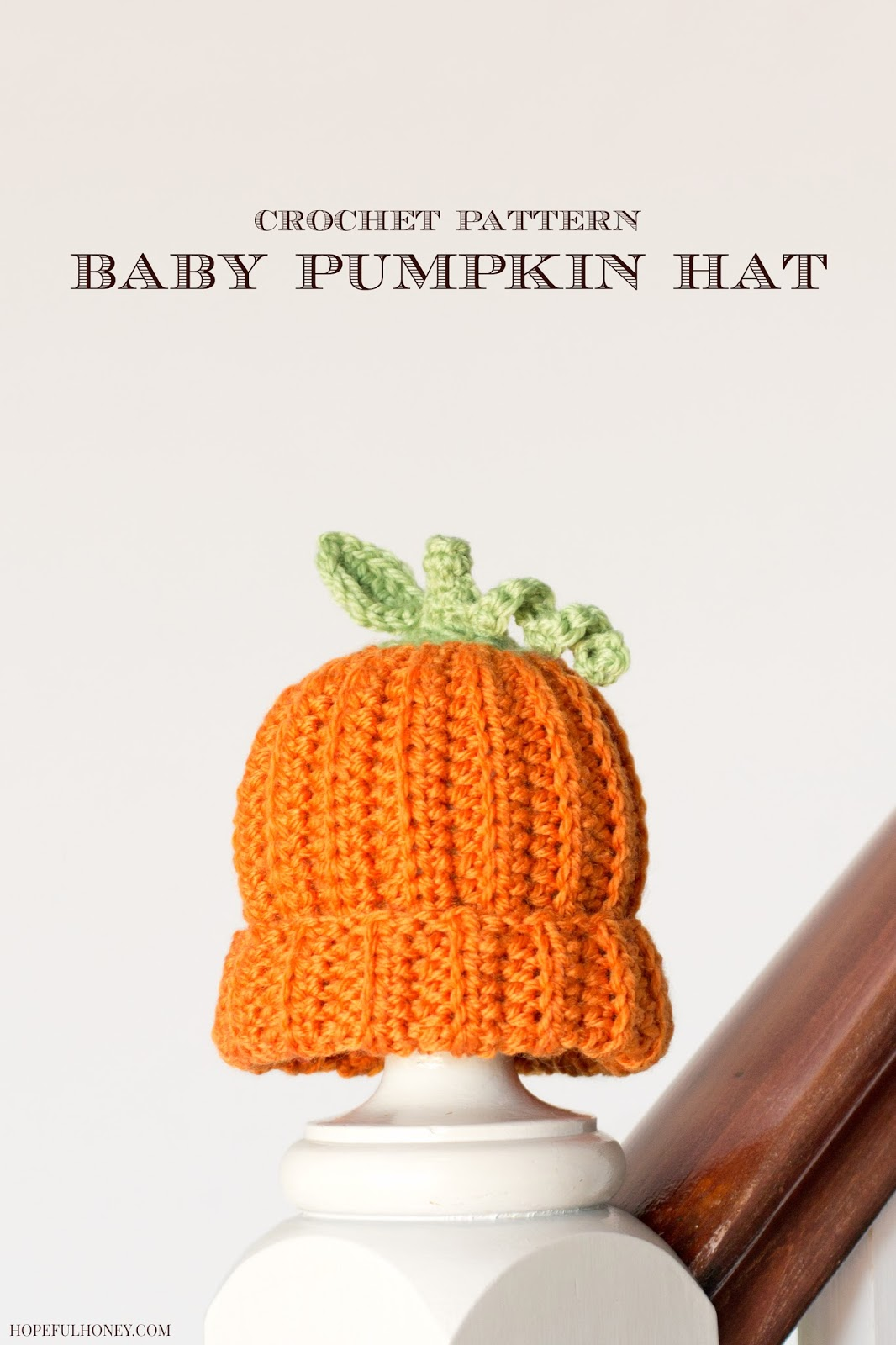 Free Newborn Pumpkin Hat Crochet Pattern : Hopeful Honey Craft, Crochet, Create: Newborn Pumpkin ...