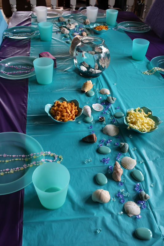 Buttonbox designs little mermaid party aria turns 6 for Ariel party decoration ideas