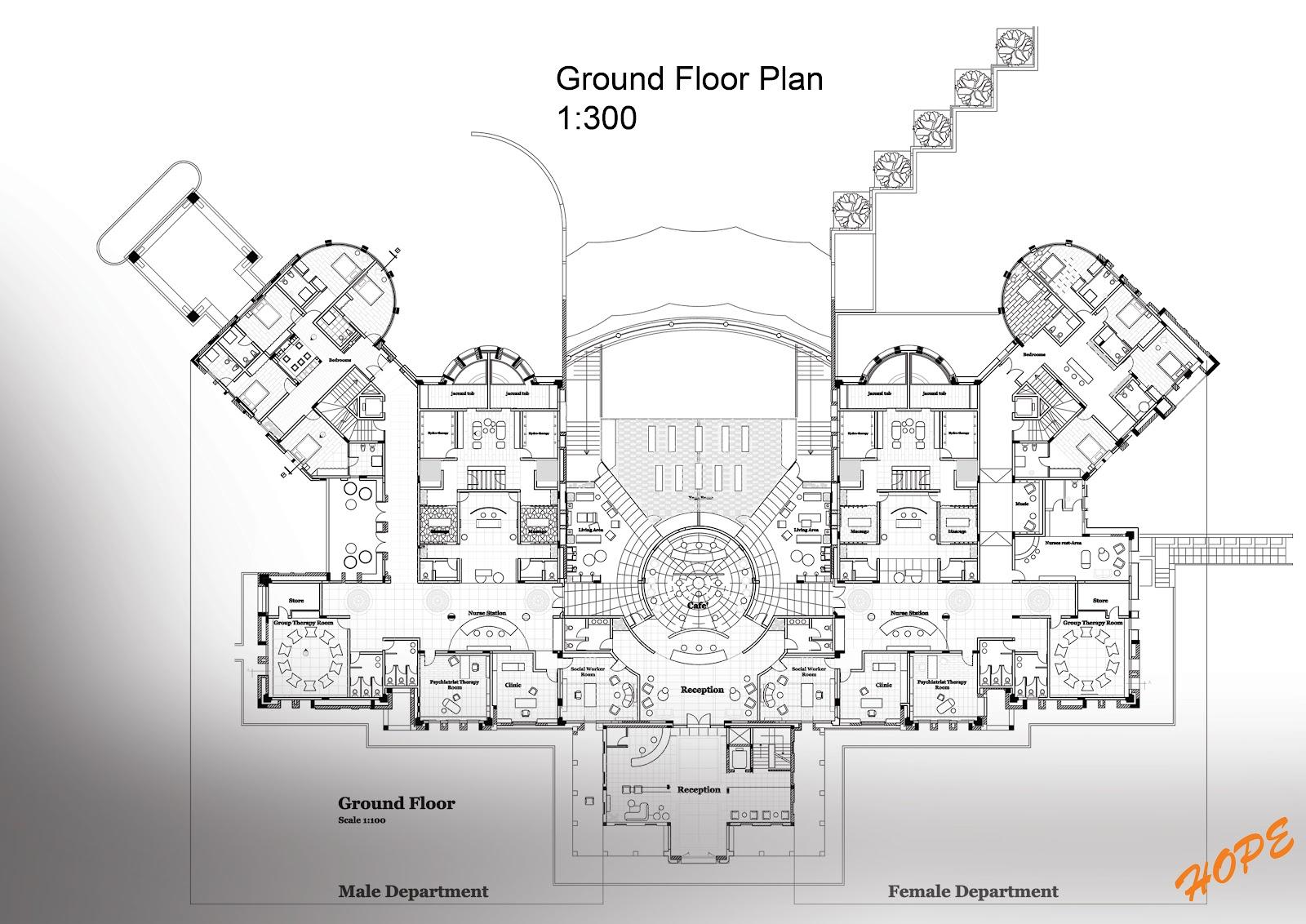 rehabilitation Center Floor Plan Free 100 Images