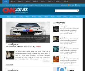 Cnn News Blogger Template