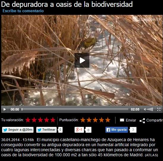 De depuradora a oasis de la biodiversidad