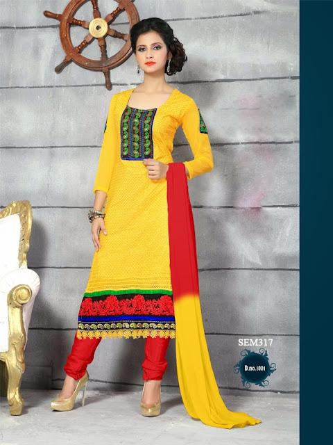 Buy Online Long Designer Cotton Salwar Kameez