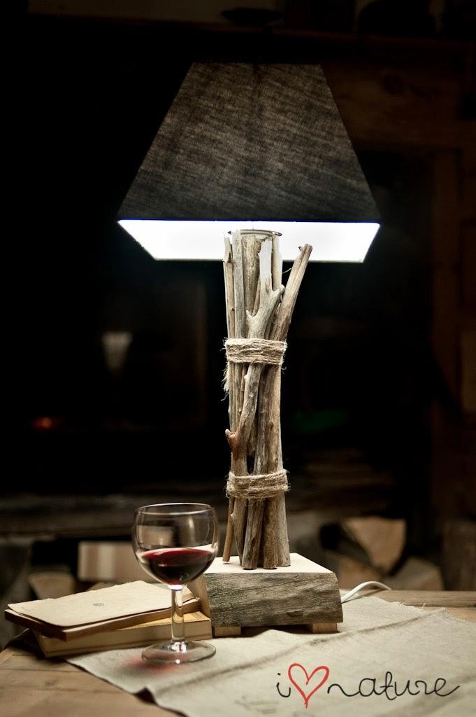 lampa z konarów