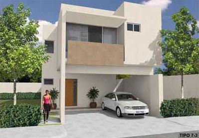 Fachadas minimalistas fachada minimalista con balcon for Fachada de casas modernas con balcon