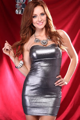 PEWTER STRAPLESS METALLIC FITTED SEXY MINI DRESS