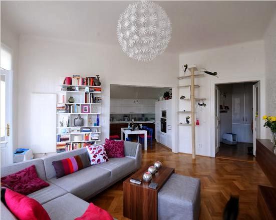 pemilihan warna cat dinding ruang tamu model minimalist