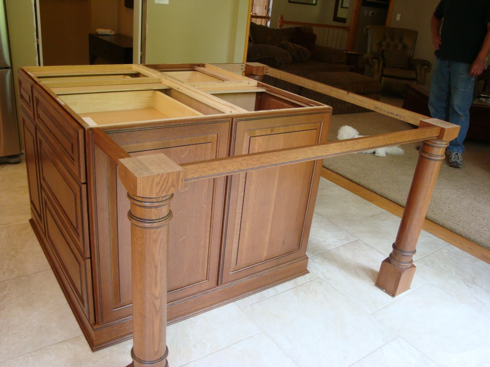 How To Install Kitchen Island Legs