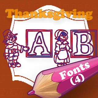 http://www.teacherspayteachers.com/Product/4-Thanksgiving-Fonts-to-Create-Printable-Worksheets-444326