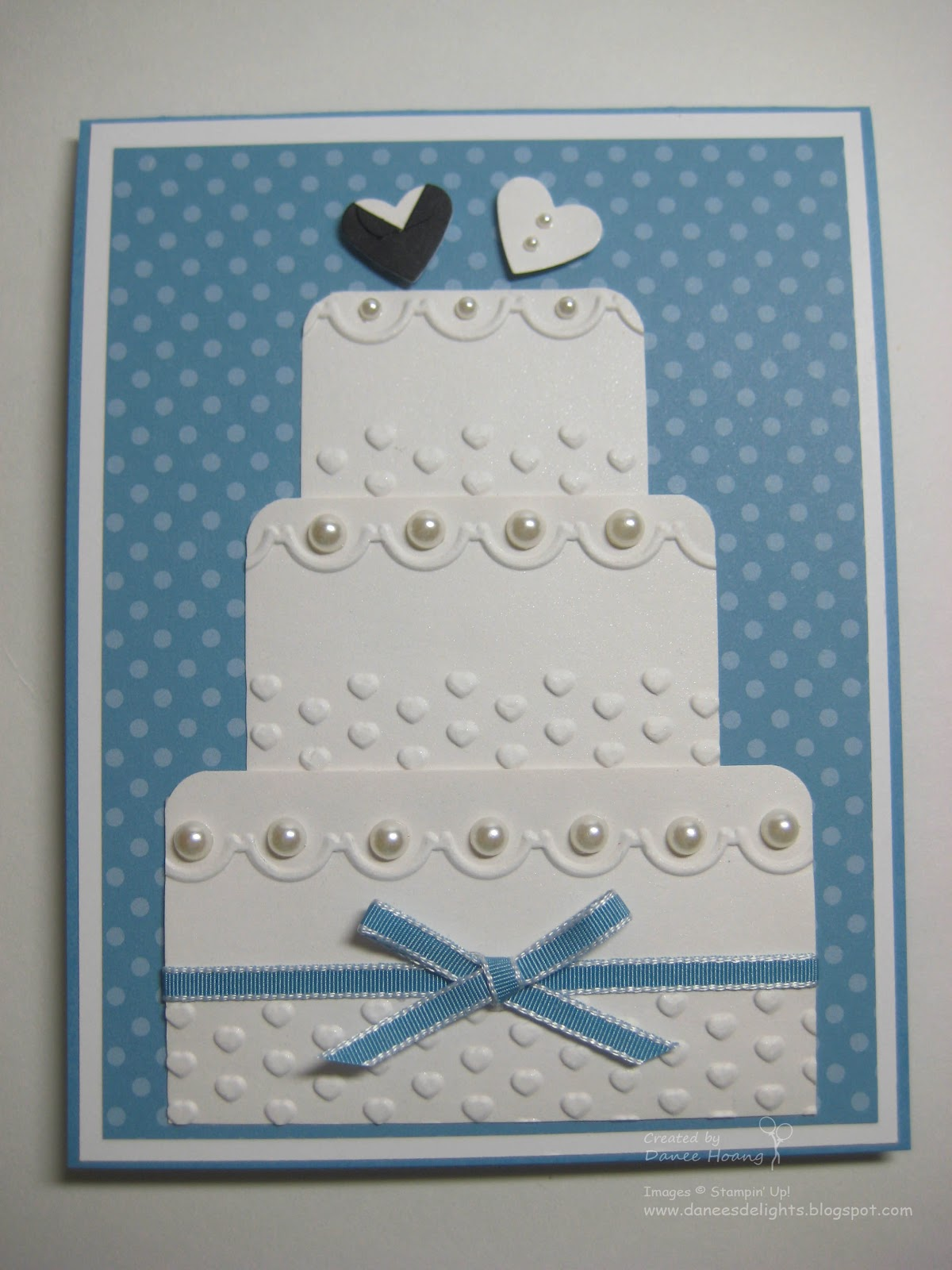 Danees Stampin Delights Wedding Cake Card