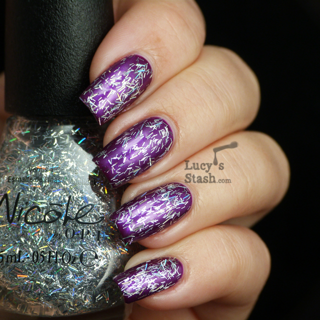 Lucy's Stash - Nicole By OPI Stars At Night over Pretty In Plum