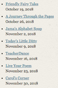 POETRY FRIDAY ROUNDUP-Oct.-Nov.
