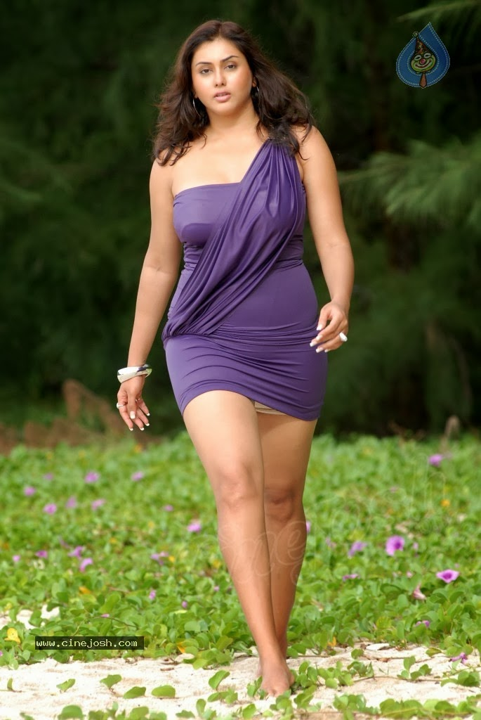 namitha breast show